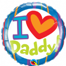 "I (Heart) Daddy Foil Balloon (18"") 1pc"